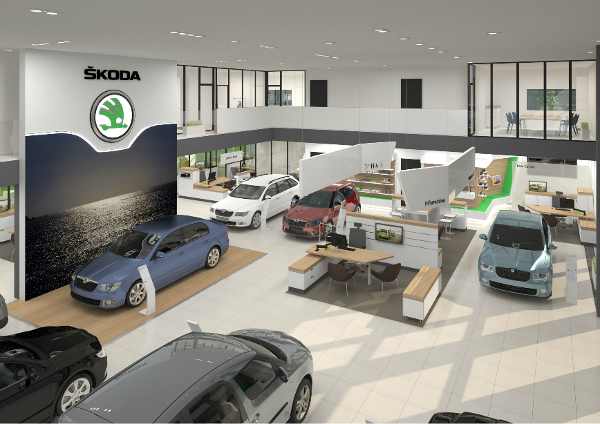 Showroom SKODA-view