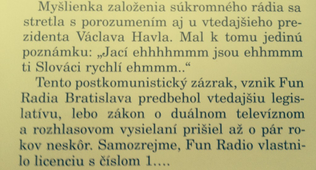 Vaclav Havel  o FUN radiu-zdroj FUN radio