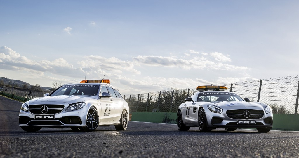 Mercedes-AMG C 63 S T-Modell als Official Medical Car und Merced