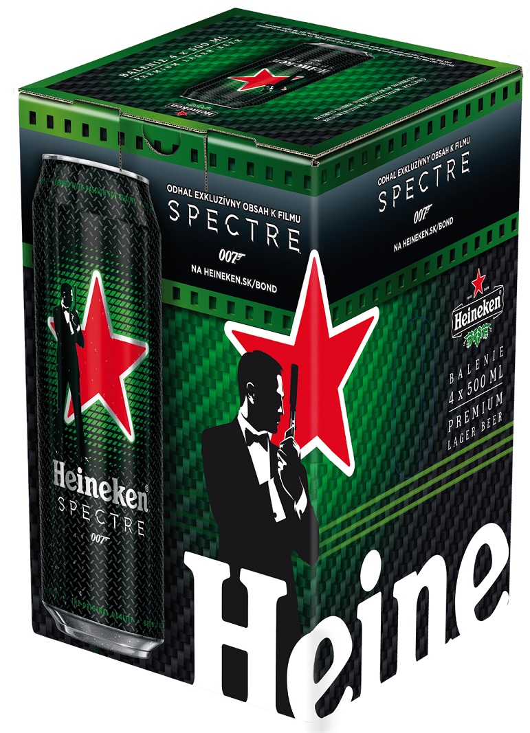 Heineken Spectre multipack James Bond